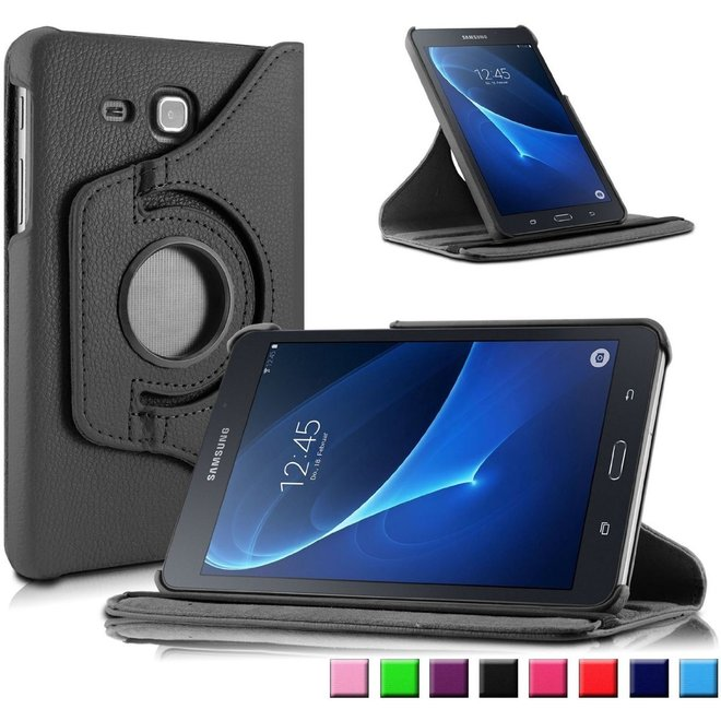 Samsung Galaxy Tab A 7.0 inch T280 T285 Hoes Cover 360 graden draaibare Case zwart (T280/T285)
