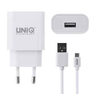 UNIQ Accessory UNIQ Accessory 2.4A travel charger - USB Type-C Wit (CE)