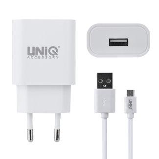 UNIQ Accessory UNIQ Accessory 2.4A  USB Type-C snellader - Wit (CE)