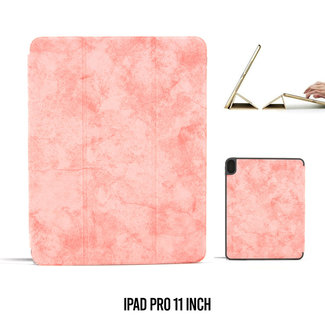 UNIQ Accessory Apple iPad Pro 11 inch Roze Book Case Tablethoes Smart Case - Marmer - Kunstleer