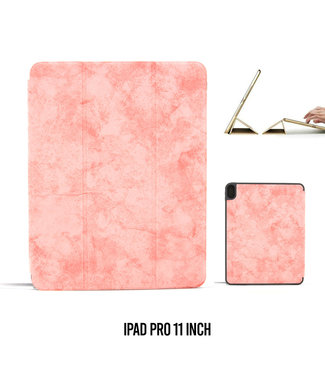 UNIQ Accessory Apple iPad Pro 11 inch Roze Book Case Tablethoes Smart Case - Marmer - Kunstleer