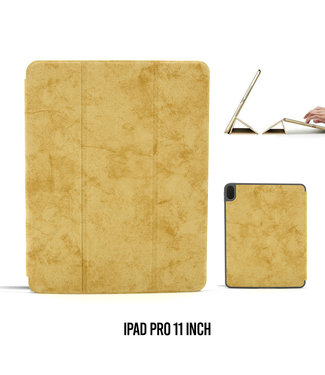 UNIQ Accessory Apple iPad Pro 11 inch Bruin Book Case Tablethoes Smart Case - Marmer - Kunstleer