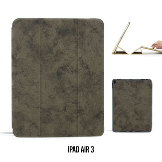 UNIQ Accessory Apple iPad Air 3-2019 -10,5 inch Grijs Book Case Tablethoes Smart Case - Marmer - Kunstleer