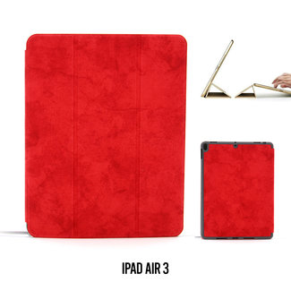 UNIQ Accessory Apple iPad Air 3 2019 - 10,5 inch Rood Book Case Tablethoes Smart Case - Marmer - Kunstleer