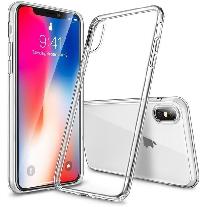 Back Cover voor Apple Iphone X MAX - Transparant