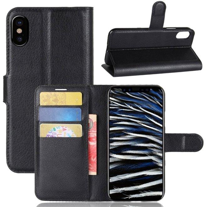 Book Case voor Apple iPhone X en Apple iPhone Xs - zwart
