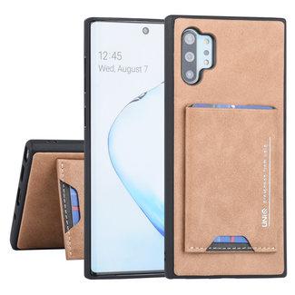 UNIQ Accessory Samsung Galaxy Note 10 Plus UNIQ Accessory Bruin Backcover hoesje Pasjeshouder - 2 Kijkstanden - Kunstleer