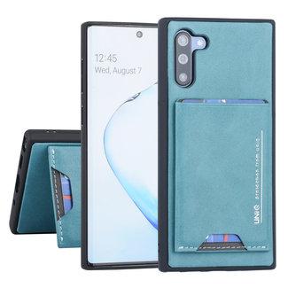 UNIQ Accessory Samsung Galaxy Note 10 UNIQ Accessory Groen Backcover hoesje Pasjeshouder - 2 Kijkstanden - Kunstleer