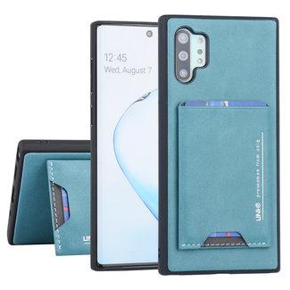 UNIQ Accessory Samsung Galaxy Note 10 Plus UNIQ Accessory Groen Backcover hoesje Pasjeshouder - 2 Kijkstanden - Kunstleer