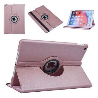 xlmobiel.nl Apple iPad 10.2 (2019) Rose Gold 360 graden draaibare hoes - Book Case Tablethoes