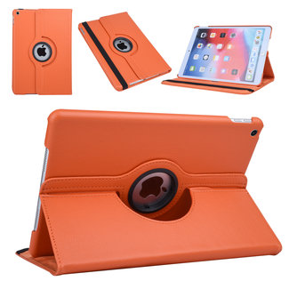 xlmobiel.nl Apple iPad 10.2 (2019) Oranje 360 graden draaibare hoes - Book Case Tablethoes
