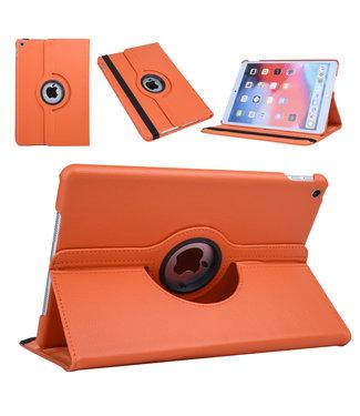 xlmobiel.nl Apple iPad 10.2 2019 Oranje Book Case Tablethoes Draaibaar - Kunstleer