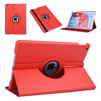 xlmobiel.nl Apple iPad 10.2 (2019) Rood 360 graden draaibare hoes - Book Case Tablethoes
