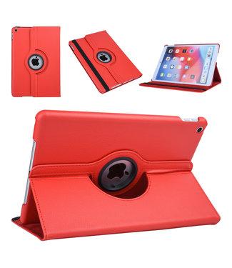 xlmobiel.nl Apple iPad 10.2 2019 Rood Book Case Tablethoes Draaibaar - Kunstleer