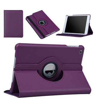 xlmobiel.nl Apple iPad Mini 2 Paars Book Case Tablethoes Draaibaar - Kunstleer