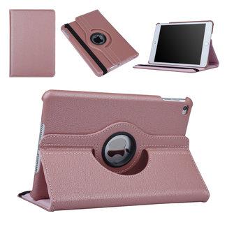 xlmobiel.nl Apple iPad Mini 4 Rose Gold 360 graden draaibare hoes - Book Case Tablethoes