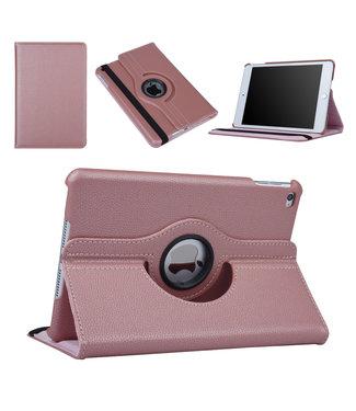 xlmobiel.nl Apple Ipad Mini 4 Rose Gold Book Case Tablethoes Draaibaar - Kunstleer