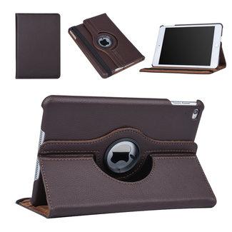 xlmobiel.nl Apple iPad Mini 4 Bruin 360 graden draaibare hoes - Book Case Tablethoes