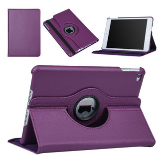 xlmobiel.nl Apple iPad Mini 4 Paars 360 graden draaibare hoes - Book Case Tablethoes