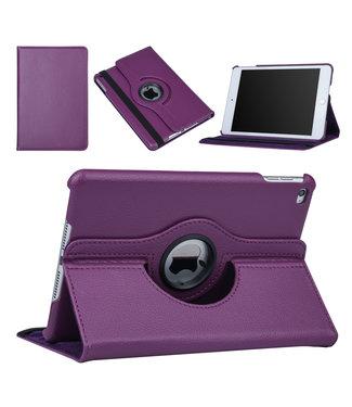 xlmobiel.nl Apple Ipad Mini 4 Paars Book Case Tablethoes Draaibaar - Kunstleer