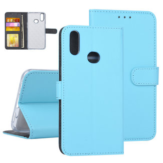 Samsung Galaxy A10s Blauw Booktype hoesje Pasjeshouder - Kunstleer