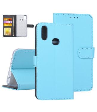 NT Mobiel Samsung Galaxy A10s Blauw Booktype hoesje Pasjeshouder - Kunstleer