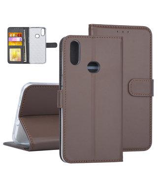 NT Mobiel Samsung Galaxy A10s Bruin Booktype hoesje Pasjeshouder - Kunstleer