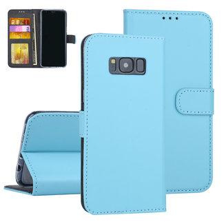 Samsung Galaxy S8 Blauw Booktype hoesje Pasjeshouder - Kunstleer