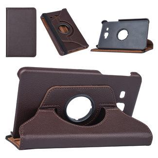 Samsung Tab A 7.0 2016 Bruin Book Case Tablethoes Draaibaar - Kunstleer