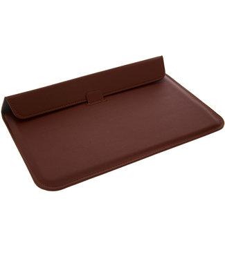 xlmobiel.nl Ultra Slim Laptop Sleeve 11.6 inch Bruin Insteek hoesje Hard - Slim - Kunstleer