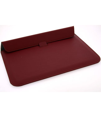 xlmobiel.nl Ultra Slim laptop Sleeve 15.4 inch Rood Insteek hoesje Hard - Slim - Kunstleer