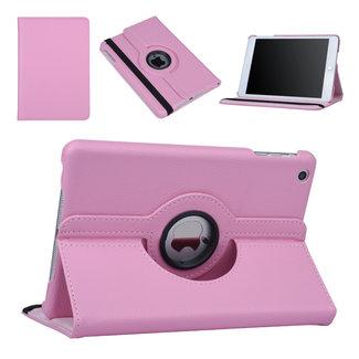 xlmobiel.nl Hoes voor Apple iPad Mini 2 / 3 Book Case 360 Graden Draaibaar - Roze Leer Cover Rotatie Hoesje voor iPad Mini 2 / 3