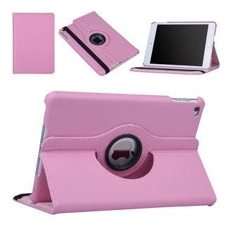 xlmobiel.nl Hoes voor Apple iPad Mini 5 / 4 Book Case 360 Graden Draaibaar - Roze Leer Cover Rotatie Hoesje voor iPad Mini 5 / 4