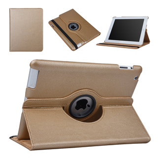xlmobiel.nl Apple iPad 2-3-4 Goud 360 graden draaibare hoes - Book Case Tablethoes