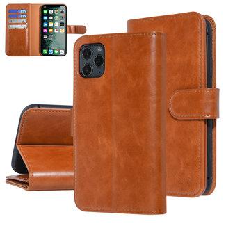UNIQ Accessory UNIQ Accessory iPhone 11 Pro Max Donker Bruin Zachte huid Booktype hoesje
