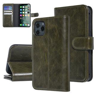 UNIQ Accessory UNIQ Accessory iPhone 11 Pro Max Zachte huid Booktype hoesje - Donker Groen