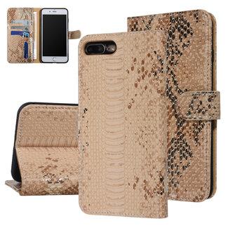 UNIQ Accessory UNIQ Accessory iPhone 7-8 Plus Goud Slangenleer Booktype hoesje