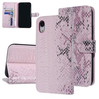 UNIQ Accessory UNIQ Accessory iPhone XR Roze Slangenleer Booktype hoesje