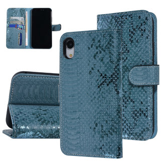 UNIQ Accessory UNIQ Accessory iPhone XR Slangenleer Booktype hoesje - Turquoise