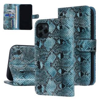 UNIQ Accessory UNIQ Accessory iPhone 11 Pro Max Zwart en Groen Slangenleer Booktype hoesje