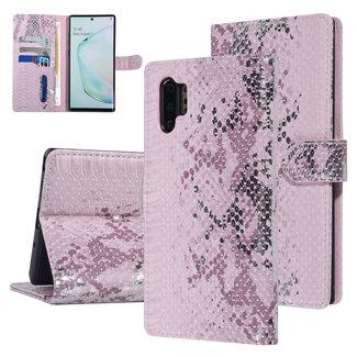 UNIQ Accessory UNIQ Accessory Galaxy Note 10 Plus Roze Slangenleer Booktype hoesje