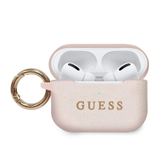 Guess Guess AirPod Pro hoes  with ring - licht roze