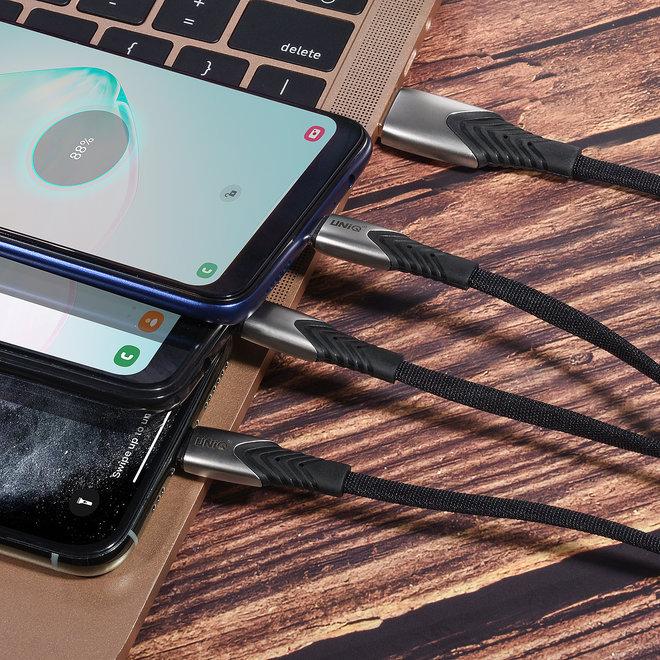 3 in 1 USB Oplaad- en dataoverdracht kabel van UNIQ Accessory