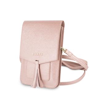 Guess Guess Collection roze telefoontasje met ruimte voor pasjes en briefgeld - tot 7 inch smartphone