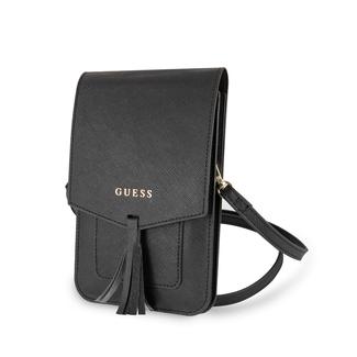 Guess Guess Collection zwart telefoontasje met ruimte voor pasjes en briefgeld - tot 7 inch smartphone