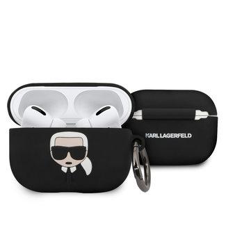 Karl Lagerfeld Karl Lagerfeld Apple zwart AirPod Case - Ring