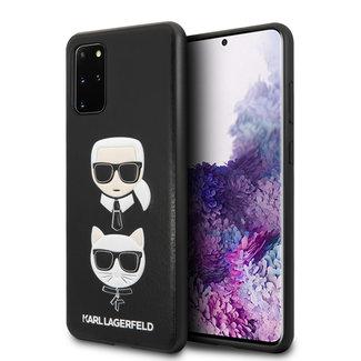 Karl Lagerfeld Karl Lagerfeld Samsung Galaxy S20 Plus Afdrukken Backcover hoesje - Leer In reliëf