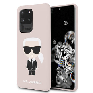 Karl Lagerfeld Karl Lagerfeld Samsung Galaxy S20 Ultra Roze Backcover hoesje - Full Body Iconic