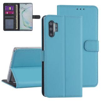 Andere merken Samsung Galaxy Note 10 Plus Lichtblauw Booktype hoesje - Kaarthouder