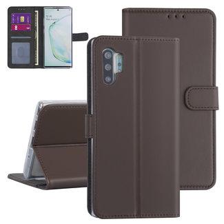 Andere merken Samsung Galaxy Note 10 Plus Bruin Booktype hoesje - Kaarthouder